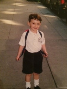 First day of pre-school, 2001